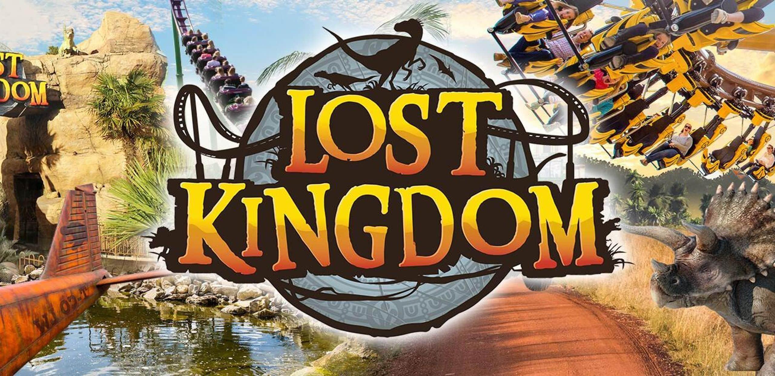 Children at lost kingdom banner