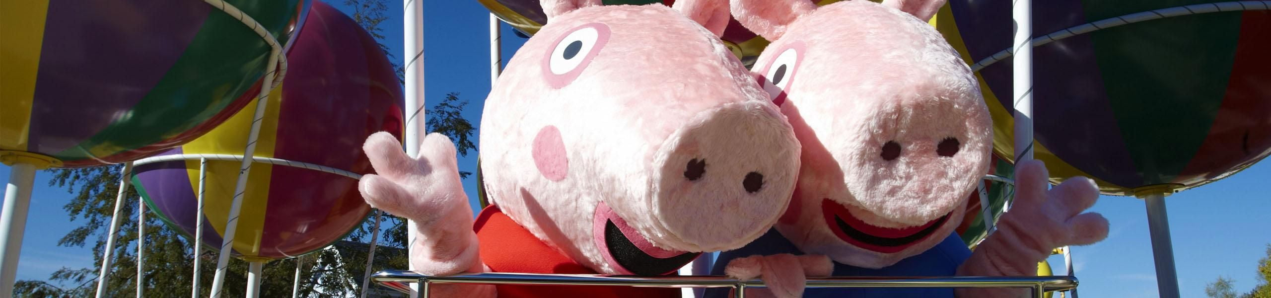 Meet Peppa Pig and George at Paultons Park